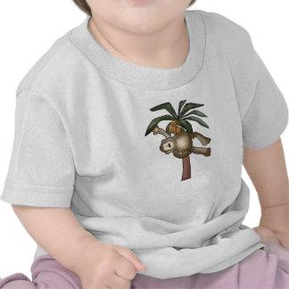 Monkey in Banana Tree Tee Shirts