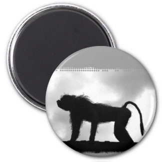 Monkey in London Tower magnet Refrigerator Magnet