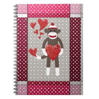 Monkey in love. notebooks