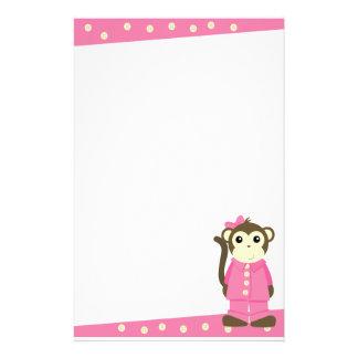 Monkey in Pajamas Stationery