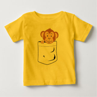 Monkey in pocket baby T-Shirt
