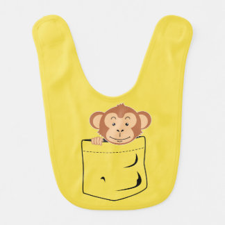 Monkey in pocket bib