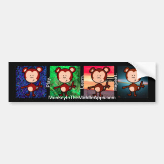Monkey in the Middle Apps Bumper Sticker