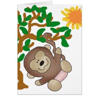 Monkey in Tree Greeting Card