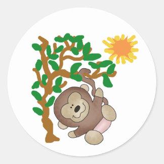 Monkey in Tree Stickers