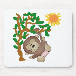 Monkey in Tree Tshirts and Gifts Mouse Pad