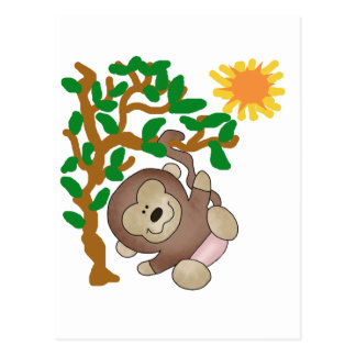 Monkey in Tree Tshirts and Gifts Postcard
