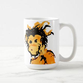 monkey ink basic white mug