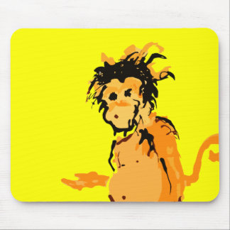 monkey ink mouse pad