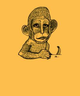 Monkey (Innocent with Banana) Tee Shirt