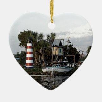 Monkey Island Ceramic Heart Decoration