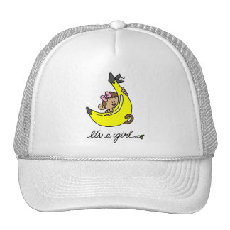 Monkey It's a Girl T-shirts and Gifts Mesh Hat