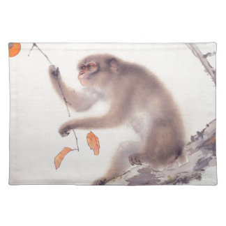 Monkey Japanese Painting Monkey Year Zodiac Place Placemat