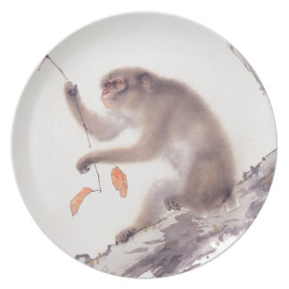 Monkey Japanese Painting - Year of the Monkey Plate