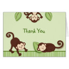 Monkey Jungle Animal Thank You Note Cards