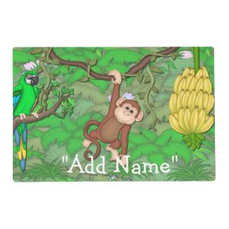 Monkey Jungle Artmat Laminated Placemat
