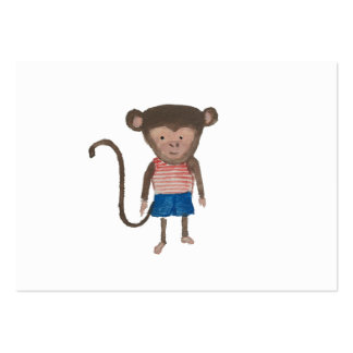 Monkey Jungle Friends Baby Animal Water Color Pack Of Chubby Business Cards
