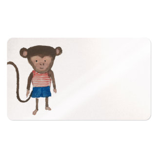 Monkey Jungle Friends Baby Animal Water Color Pack Of Standard Business Cards