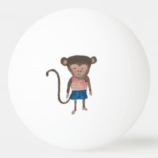 Monkey Jungle Friends Baby Animal Water Color Ping Pong Ball
