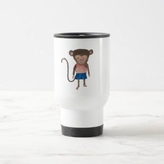 Monkey Jungle Friends Baby Animal Water Color Stainless Steel Travel Mug