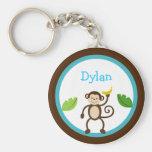Monkey Jungle Kids Personalised Key Chain