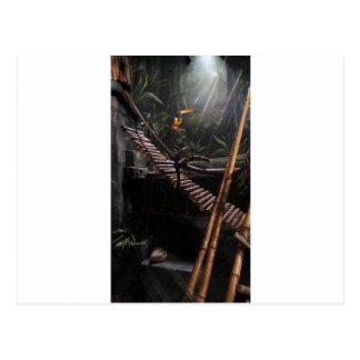 monkey jungle postcard