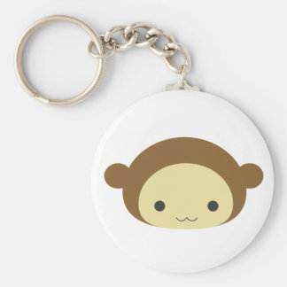 Monkey Basic Round Button Key Ring