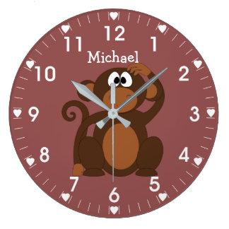 Monkey Large Clock