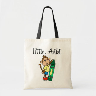 Monkey Little Artist Tshirts and Gifts Tote Bags