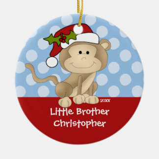 Monkey Little Brother Christmas Ornament