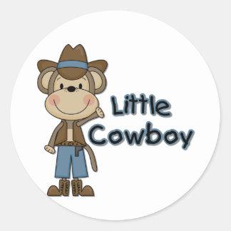 Monkey Little Cowboy Tshirts and Gifts Round Sticker