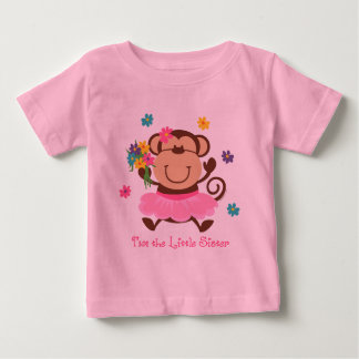 Monkey Little Sister Baby T-Shirt