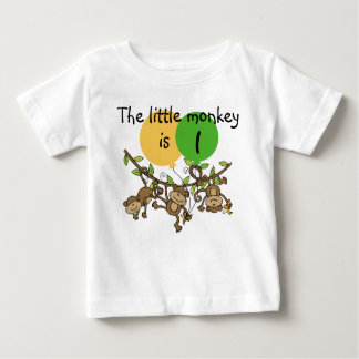 Monkey Little Swinge Customizable Birthday T-shirt