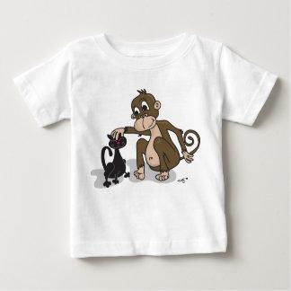 Monkey Love Cat Baby T-Shirt