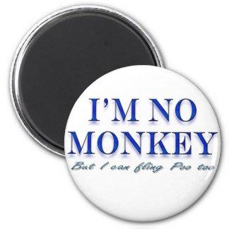 Monkey Love Fling Poo Funny 6 Cm Round Magnet