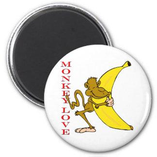Monkey Love Fling Poo Funny Refrigerator Magnet