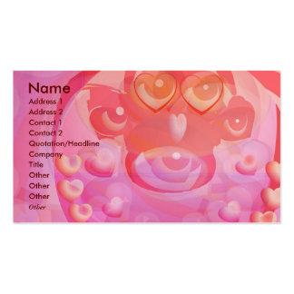 MONKEY Love - Heart Garlands Business Card Template