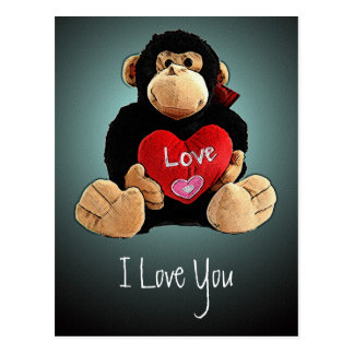 Monkey Love Postcard