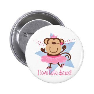 Monkey Love Tutu Dance 6 Cm Round Badge