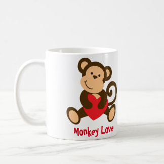 Monkey Love Valentine Mug