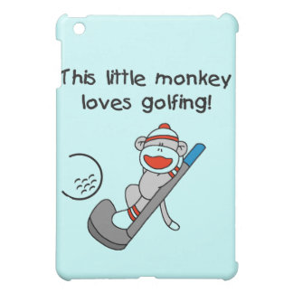 Monkey Loves Golfing and Gifts iPad Mini Case