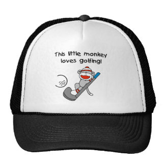 Monkey Loves Golfing Cap