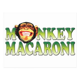 Monkey Macaroni Postcard