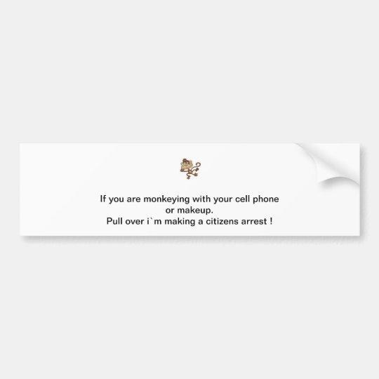 Monkey Madness Bumper Sticker