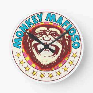 Monkey Mafioso Wall Clocks