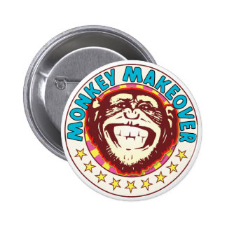 Monkey Makeover 6 Cm Round Badge