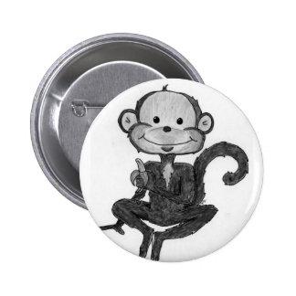 Monkey Mania Pinback Buttons