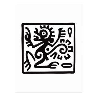 Monkey, Mexican hieroglyph(Maya) Postcard