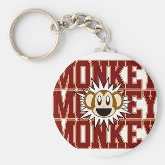 Monkey Monkey Basic Round Button Key Ring