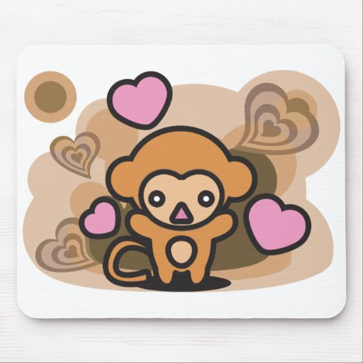 Monkey Mouse Pads